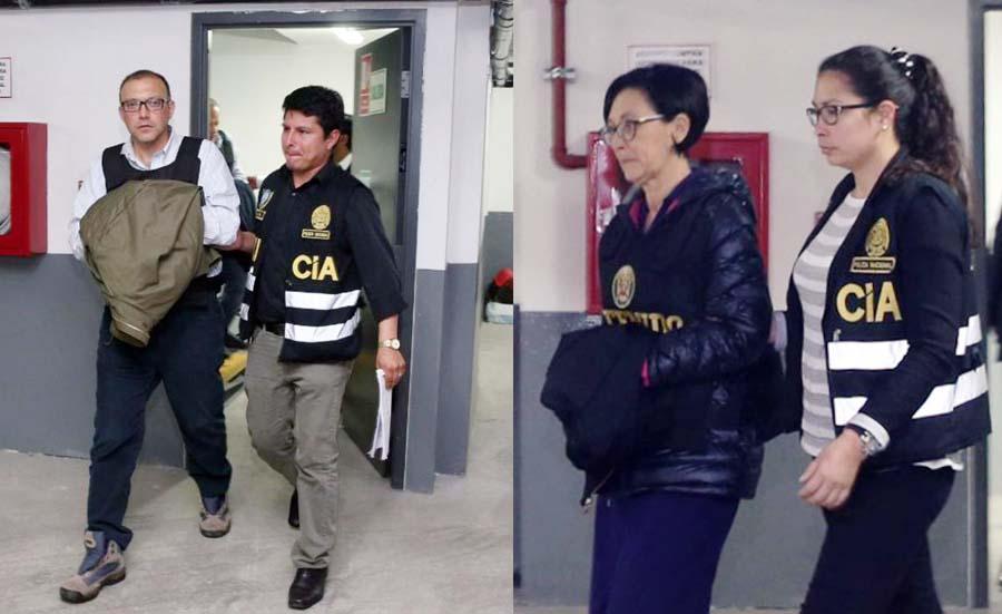 Prisión preventiva contra Pier Figari y Ana Herz de Vega