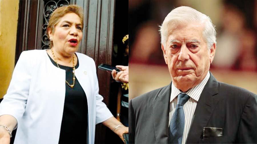 Salgado se enfrenta al Nobel Mario Vargas LLosa