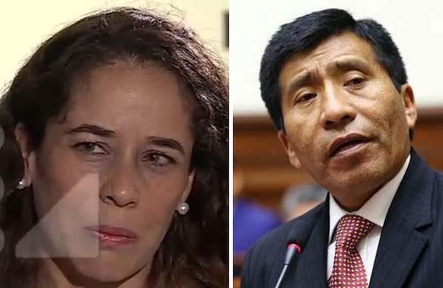 Aeromoza, Lana Campos y Moisés Mamani