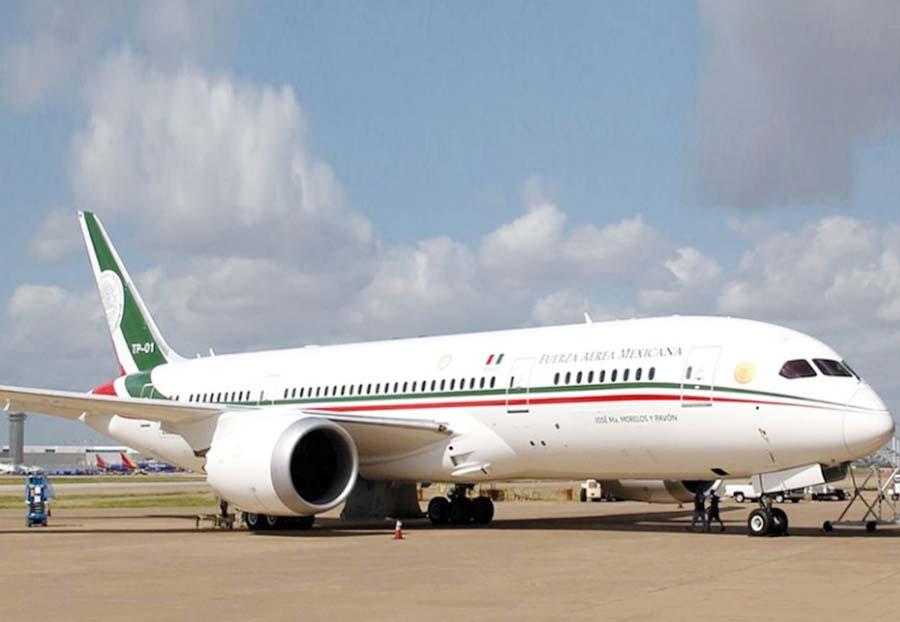 Avión Boeing 787-7 Dreamliner presidencial de Mexico
