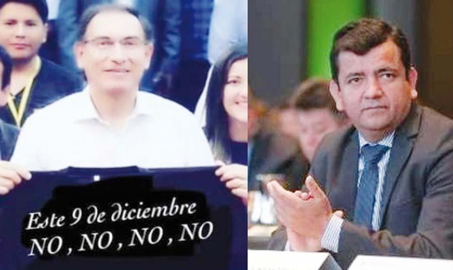 Congresista fujimorista Luis López, usa foto falsa de presidente para votar contra referéndum