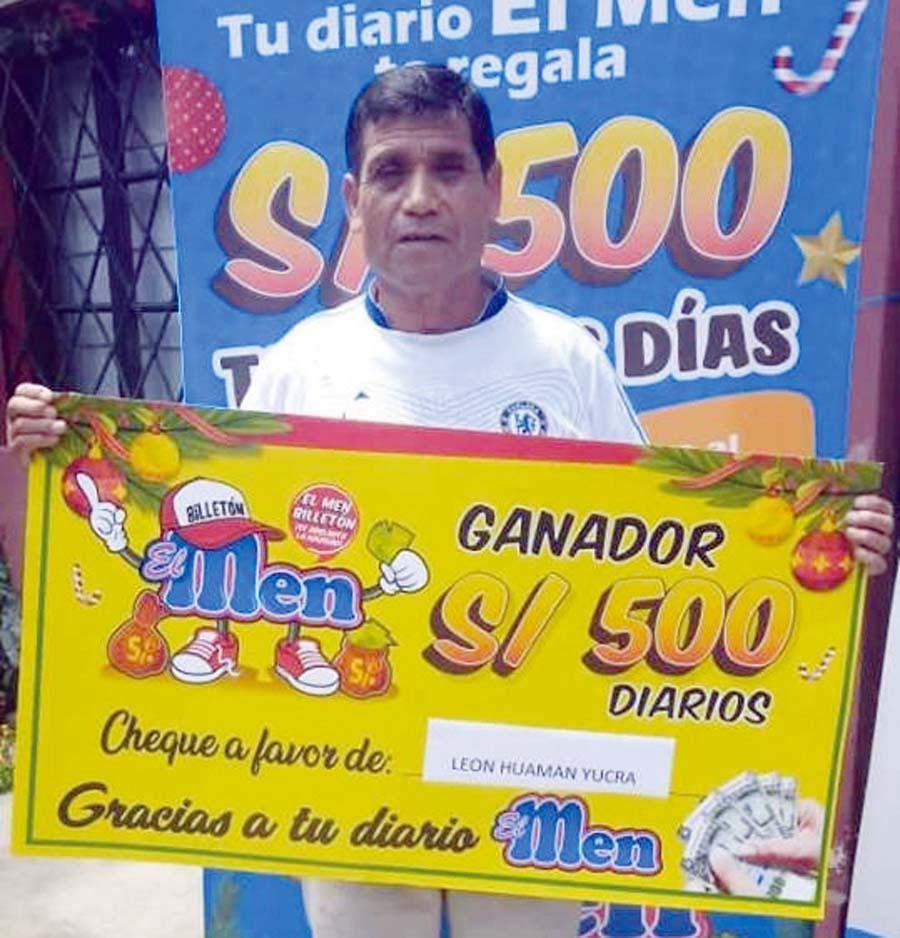 León Huamán Yucra ganador de 'El Men Billetón'