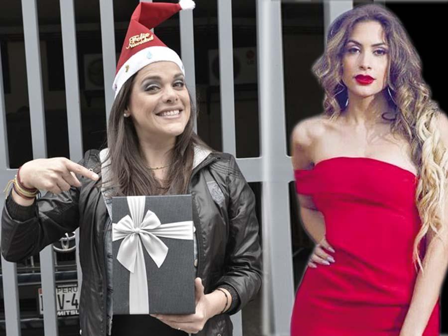 Milett y Giovanna de lejitos en Navidad