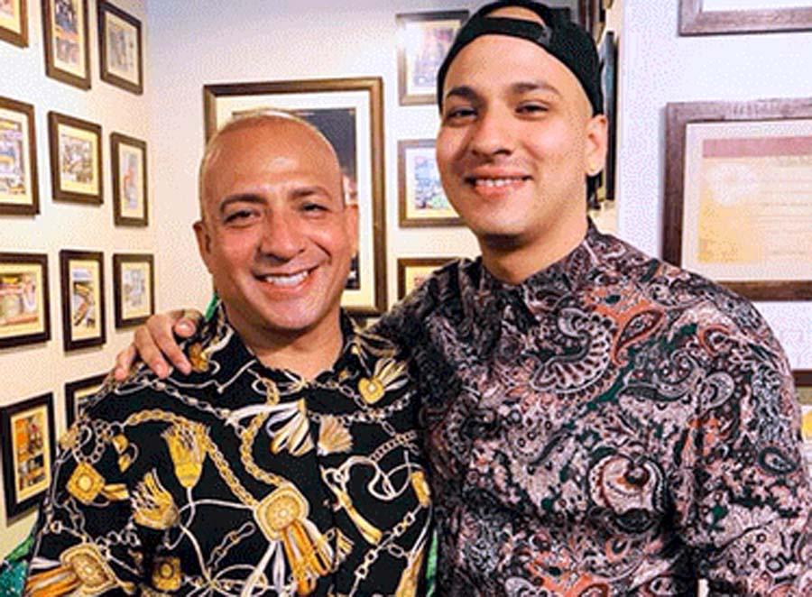 Rodolfo Gaitán Castro celebró una Navidad diferente junto a su hijo Piero Daske