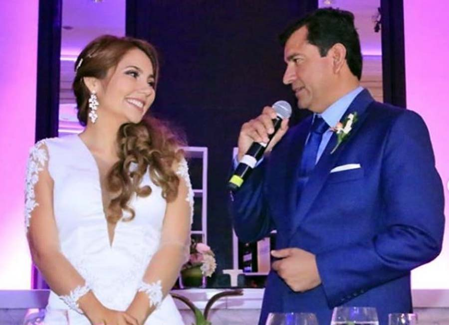 Se caso Luis López Vilela con su novia y exasistente, Tanary Mauricio Paredes