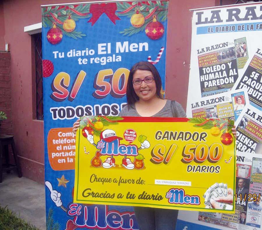 Yuly Enriquez Terrazas Ganadora de 'El Men Billetón'