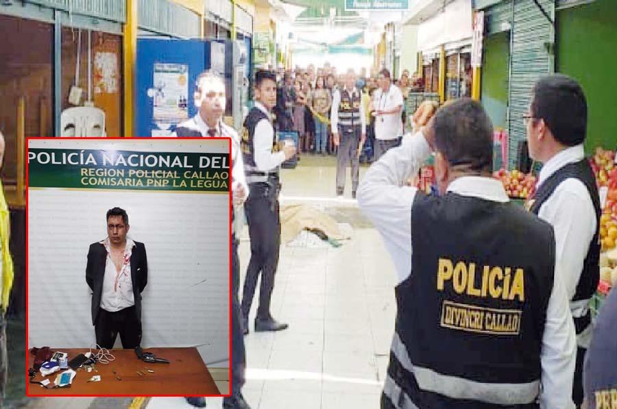 Agente de seguridad asesina a ex mujer en mercado del Callao