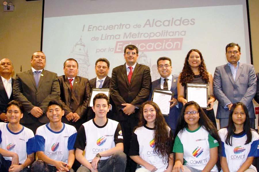 I Encuentro deAlcaldes de Lima Metropolitana por la Educación