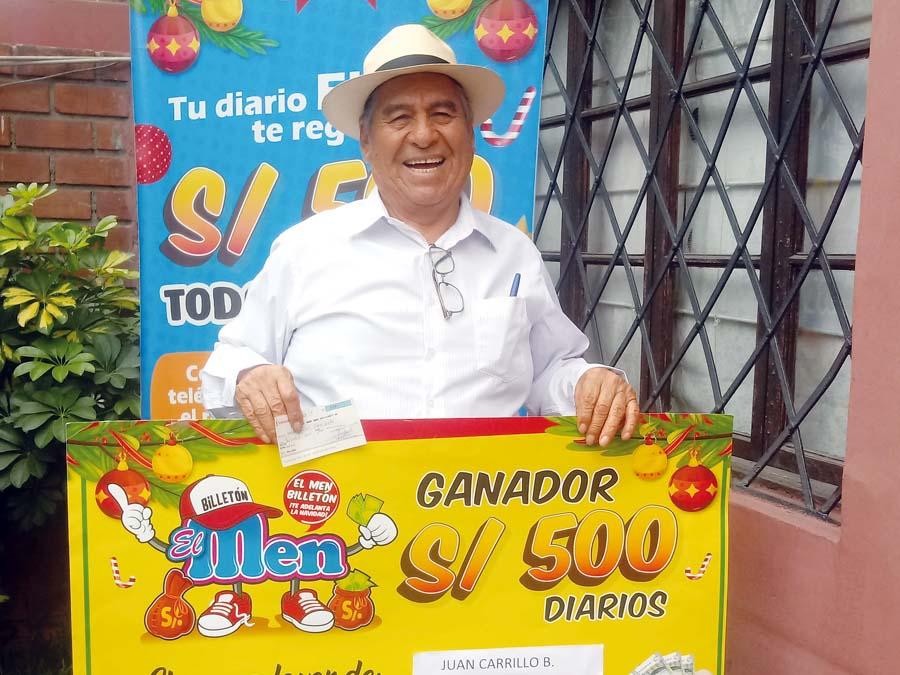 Juan Sixto Carrillo Baños ganador de El Men Billeton