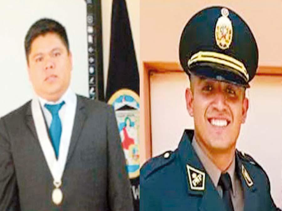Juez David Sosa y el policía Elvis Miranda Rojas