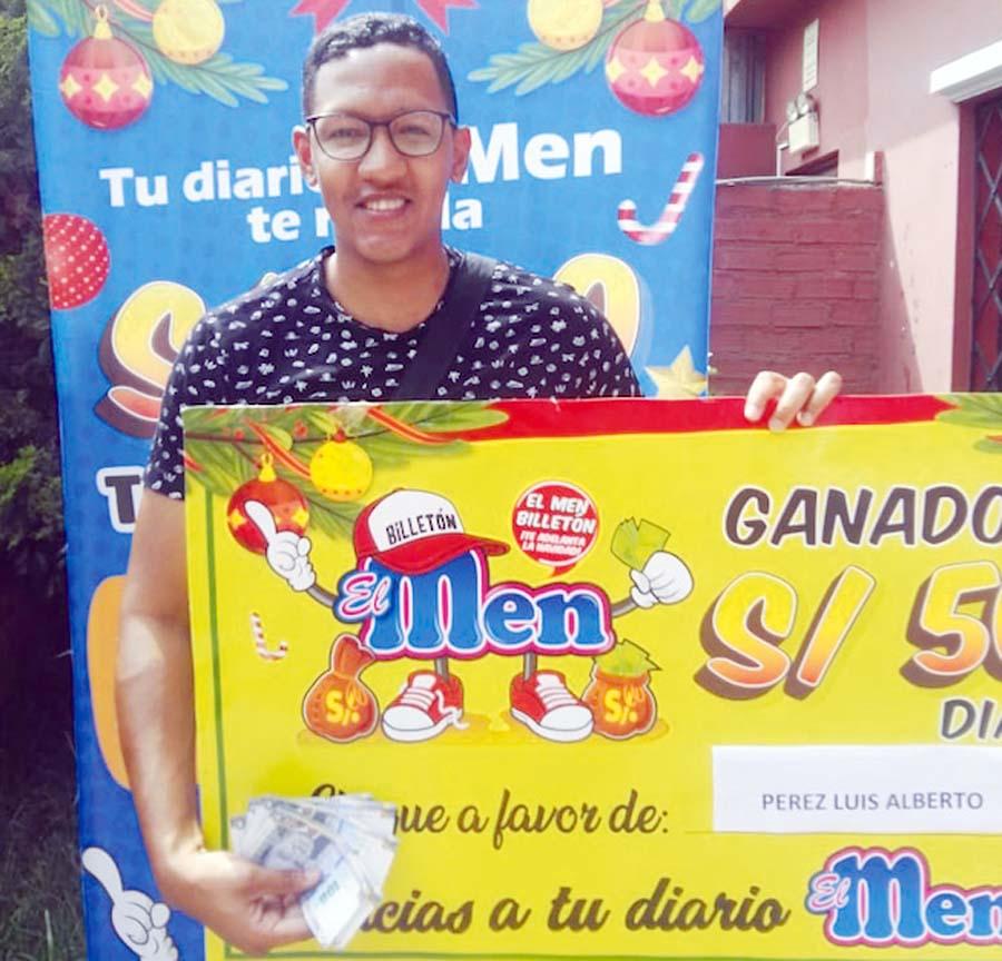 Luis Alberto Perez, ciudadano venezolano ganador de El Men Billeton