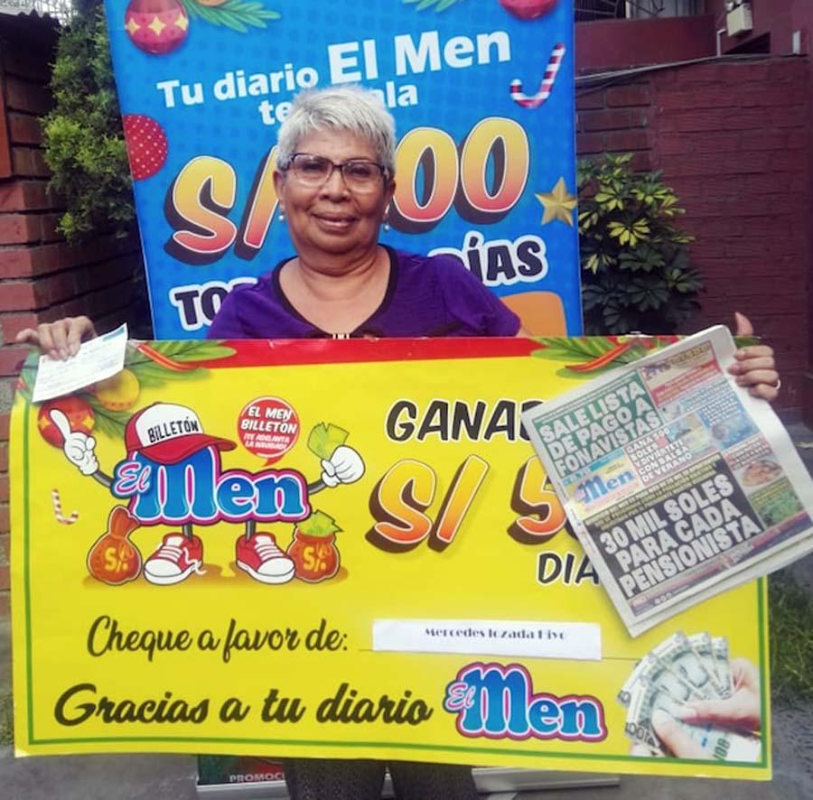 Mercedes Hiyo Lozada ganadorta de El Men billeton