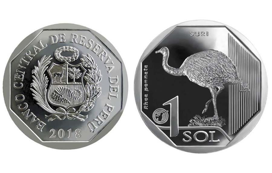 """Moneda de la serie numismática """"Fauna Silvestre Amenazada del Perú"""""""