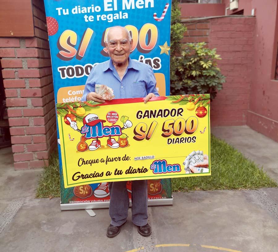 Noe Badillo Fuertes es un ganador más de El Men billetón
