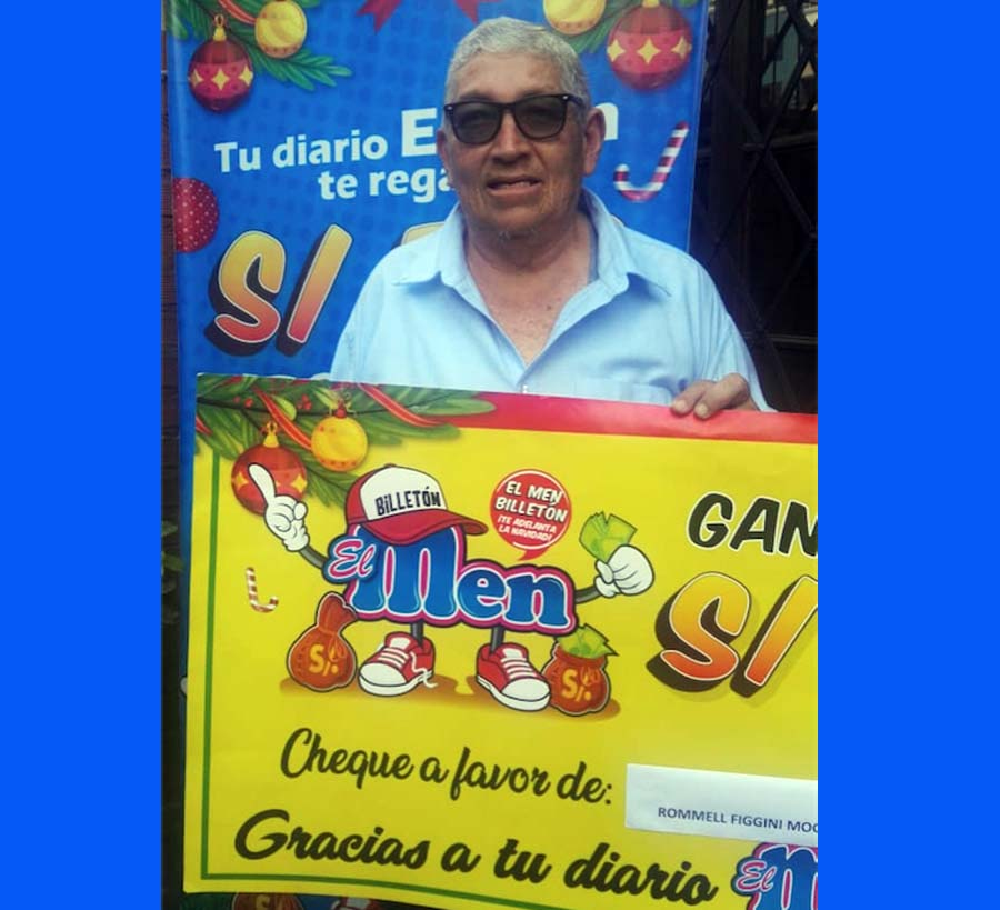 Romel Figgini Mogollón ganador de El Men Billeton