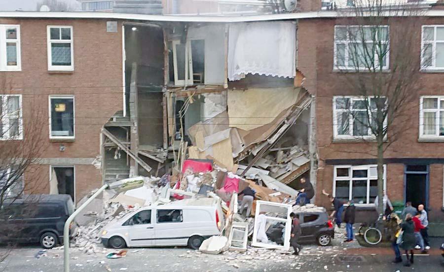 Varios edificios colapsan por explosión de gas en La Haya