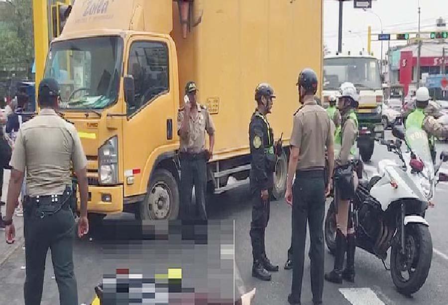 Venezolano manejaba camión en Lima y mata a abuelita