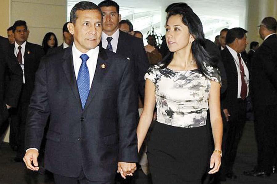 Ex presidente Ollanta Humala y su esposa Nadine Heredia