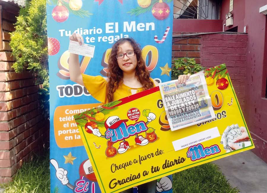 Ingritd Urday, de Huacho es la afortunada ganadora de El Men billetón