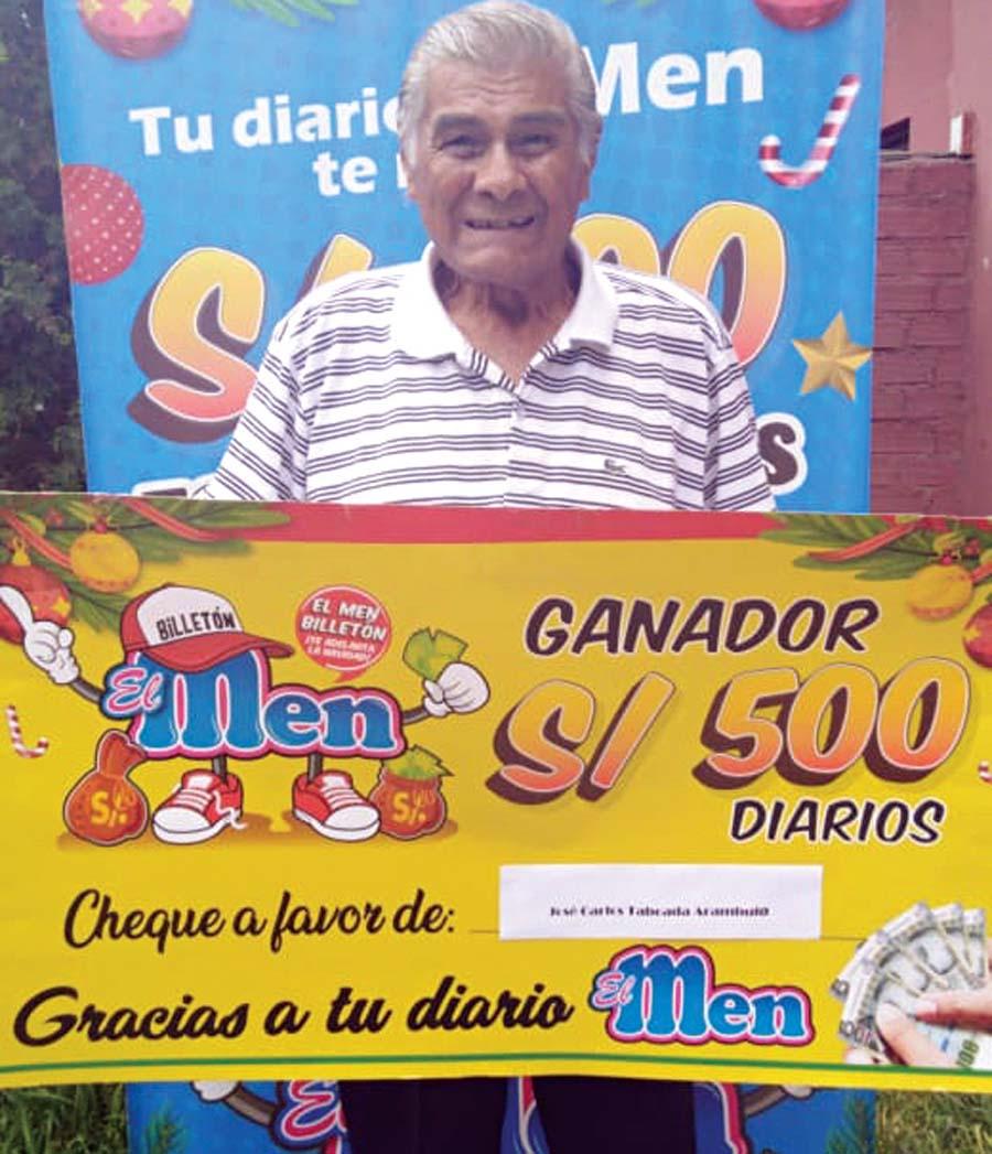 José Taboada de Villa María del Triunfo ganador de El Men Billeton