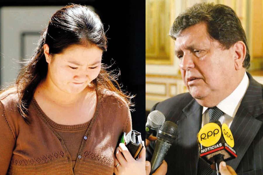 Keiko Fujimori y Alan García
