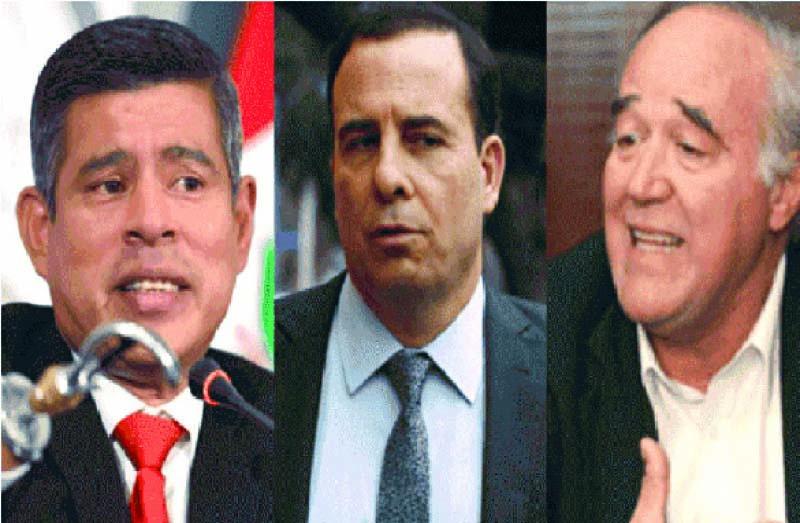 Luis Galarreta, Víctor García Belaúnde y el periodista Aldo Mariátegui