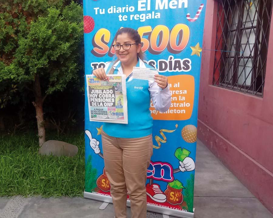María Eugenia del Carmen ganadora de El Men Billeton
