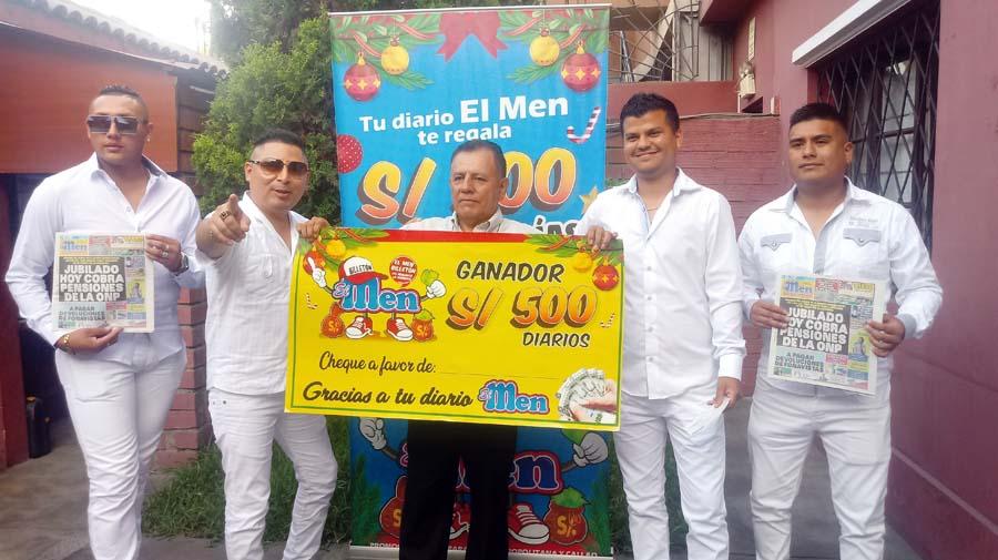 Miguel Estrada Miranda ganador de El Men Billeton