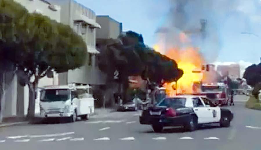 explosión de un ducto de gas