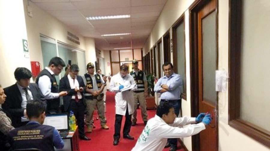 Ingreso ilegal a la oficina del Ministerio Público