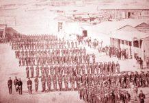 A las 07:00 del 14 de febrero de 1879 la fragata Blanco Encalada saludo a los buques chilenos Cochrane y O'Higgins, que se acercaban al puerto. Una hora después, desembarcó el primer contingente de tropas