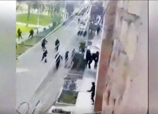 Enfrentamiento entre agentes de Serenazgo y varios ambulantes de nacionalidad venezolana