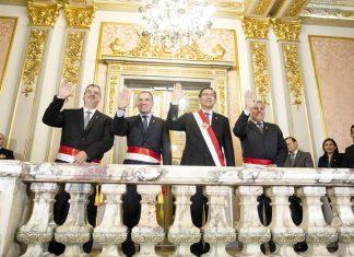 Juraron ministros De Defensa, Jorge Moscoso Flores y Cultura,Luis Castillo Butters