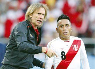 Ricardo Gareca y Christian Cueva