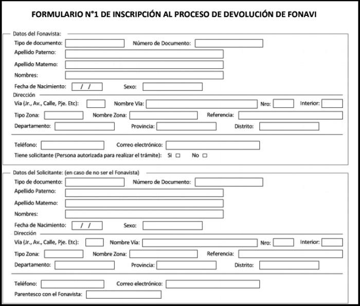 Formuilario 1 - Fonavi