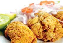 Hueveras de pescado fritas
