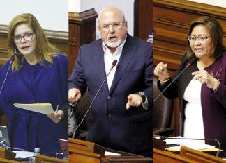 Mercedes Aráoz, Carlos Bruce y Ana María Choquehuanca