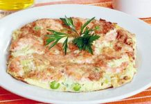 Omelette de langostinos