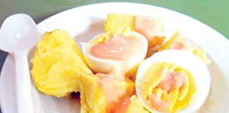 Papa con huevo