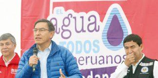 Presidente de la República, Martín Vizcarra, junto al ministro de Vivienda, Construcción y Saneamiento, Miguel Estrada