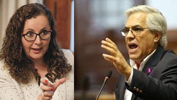 Rosa María Bartra y Gino Costa