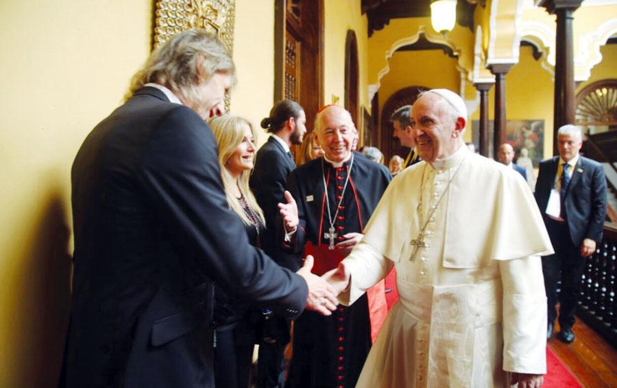 Ricardo Gareca y el Papa Francisco