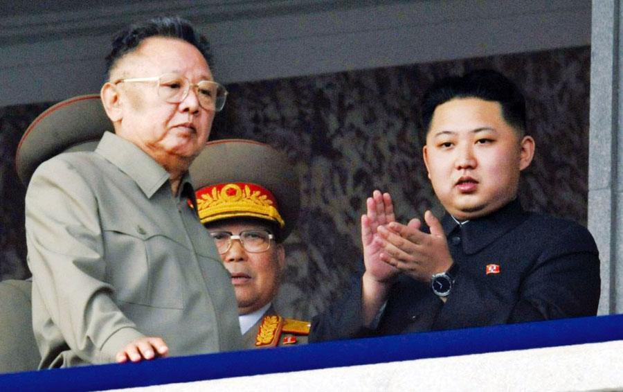 Kim Jong-il y Kim Jong-un