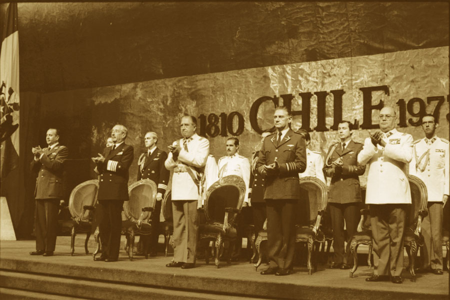 Expositores del Ejército chileno