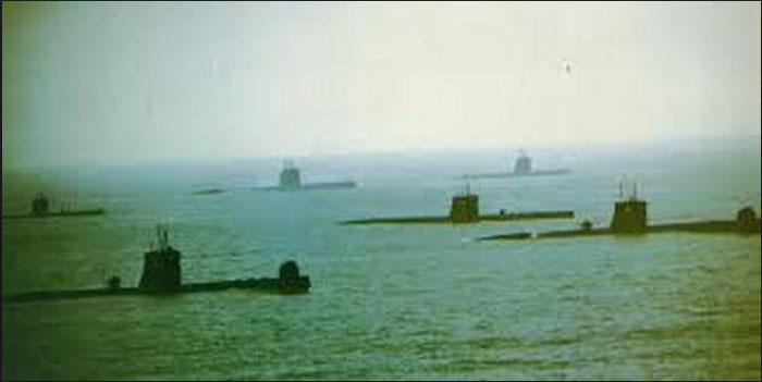 Fuerza de Submarinos de la MGP en la década de 1970