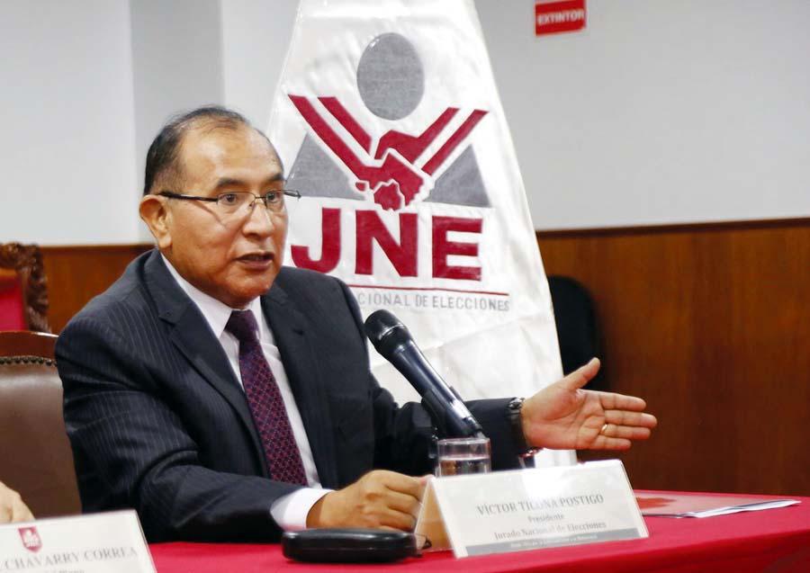 Presidente del Jurado Nacional de Elecciones, Víctor Ticona