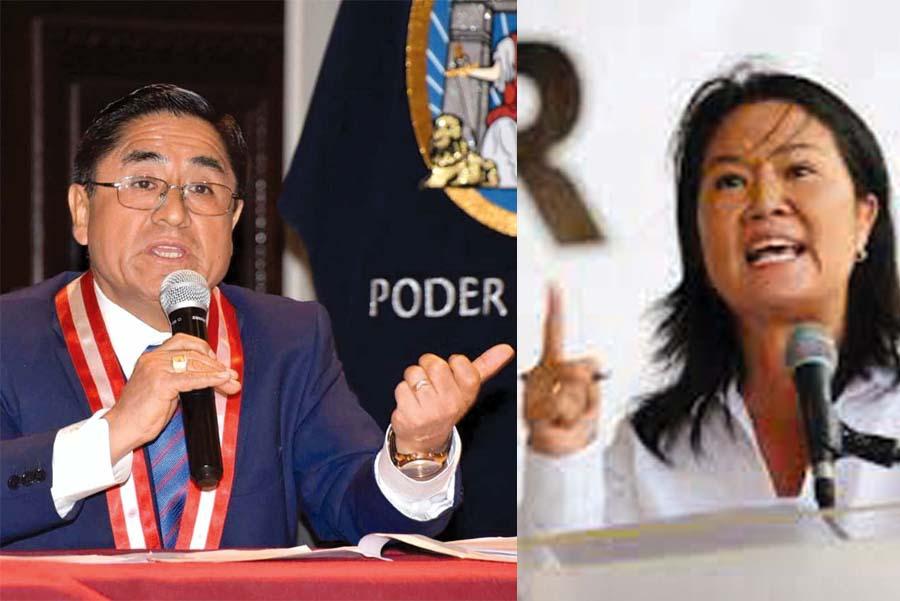 César Hinostroza y Keiko Fujimori