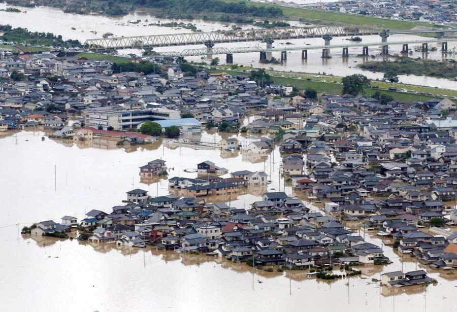 Diluvio en Japón