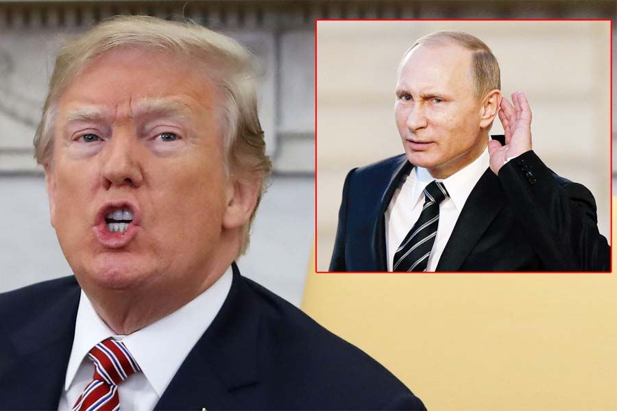 """Donald Trump tildó a Rusia de """"enemigos"""" de Estados Unidos"""