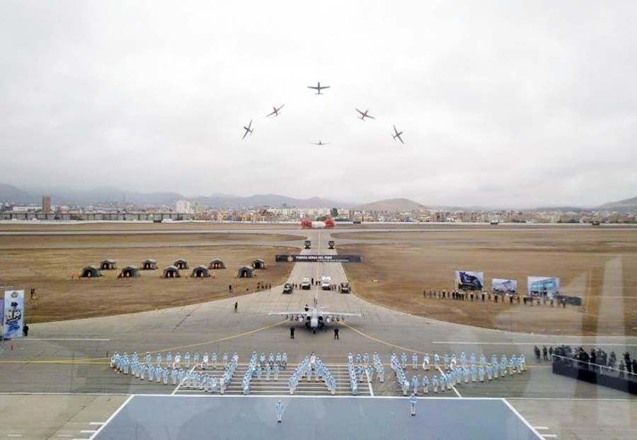 Más colosos C-27J Spartan, aviones de transporte C-130J Hércules, radares de vigilancia y 24 helicópteros Mi-171Sh-P tiene como objetivo la FAP. (Fotos: Peruvian Sky Hunters. Facebook.com)